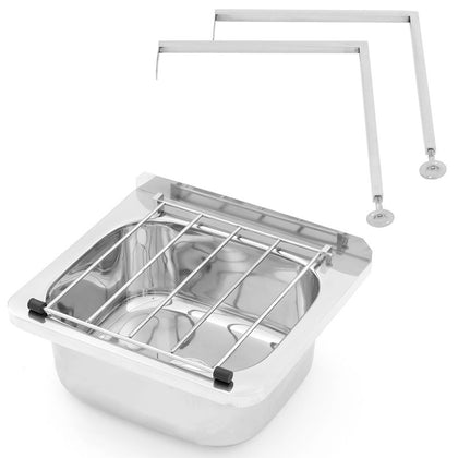 3MK AB-CS-L Cleaner's Sink with Grate & Adjustable Legs - Catering Sale