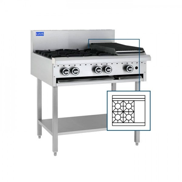LUUS BCH-4B3P  4 Burners, 300 Grill & Shelf