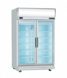 Bromic UF1000LF Flat Glass Door 976L LED Upright Display Freezer - Catering Sale