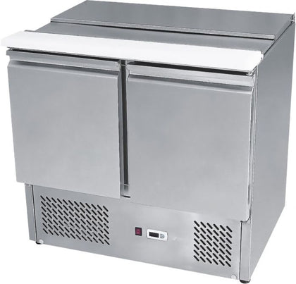 Simco ESL3800 2 Doors Sliding Lid Saladette Size 900 mm - Catering Sale