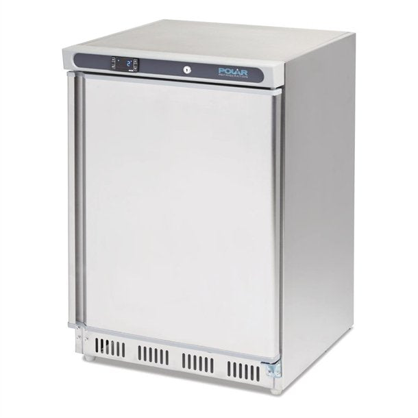 Polar CD080-A  Single Door Undercounter Fridge - stainless steel - Catering Sale