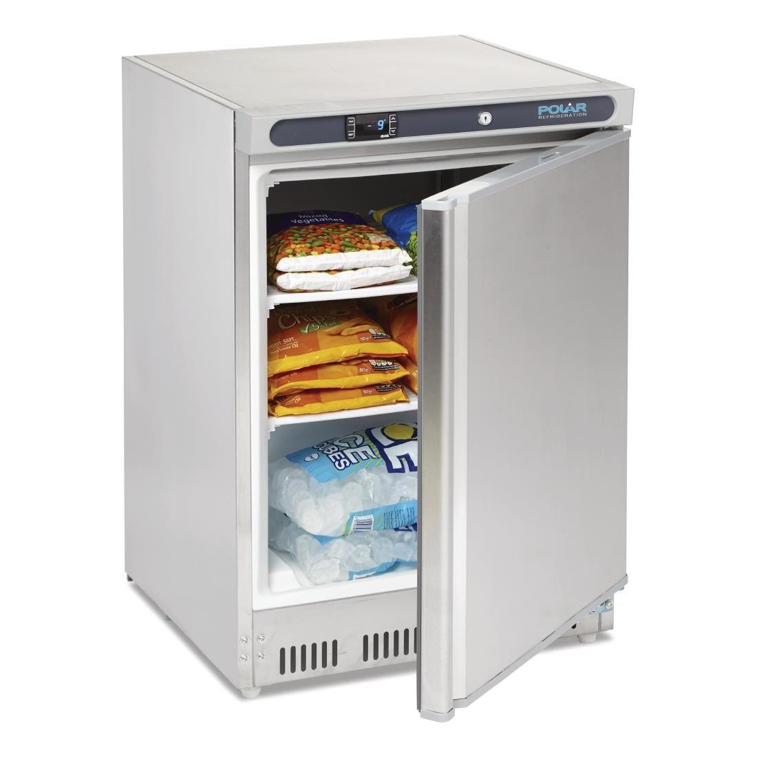 Polar CD081-A Single Door Undercounter Freezer - Stainless Steel - Catering Sale