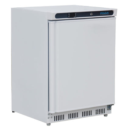 Polar CD610-A  Single Door Undercounter Fridge - white - Catering Sale
