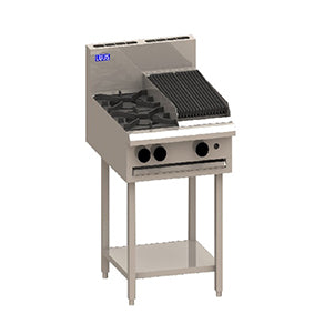 LUUS CS-2B3C 2burner 300 char grill & shelf - Catering Sale