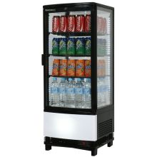 Curved Glass 98L LED Countertop Beverage Chiller- CT0100G4BC - Catering Sale