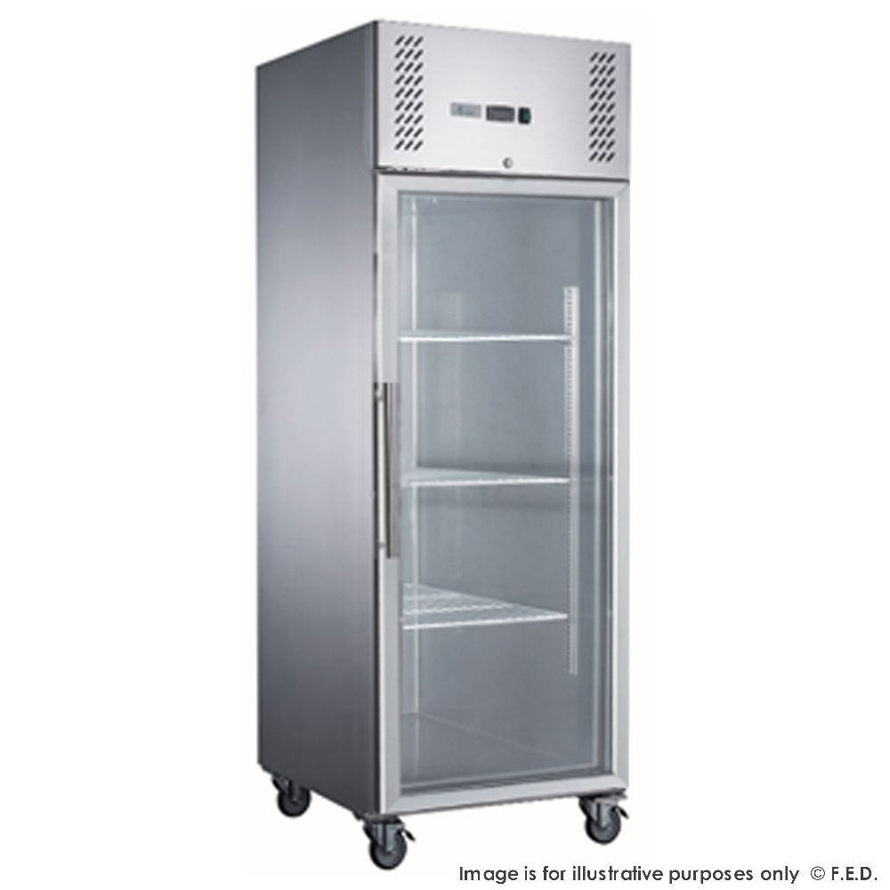 FED-X S/S Full Glass Door Upright Freezer - XURF600G1V - Catering Sale