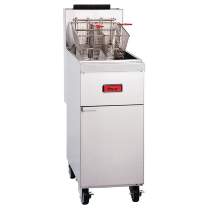 Thor Freestanding Single Pan Double Basket Gas Deep Fryer 19.75Ltr TR-F35 - Catering Sale