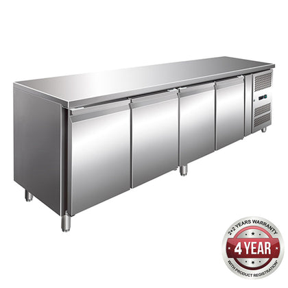 FED GN4100TN 4 Door Gastronorm Bench Fridge - Catering Sale