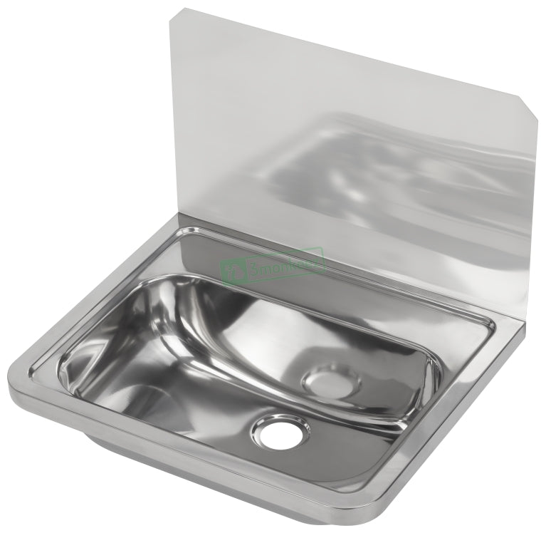 3MK HB300SB Wall Mounted Hand Basin with Splashback - Catering Sale