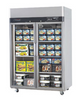 Turbo Air KF45-2G Top Mount Glass Door Freezer - Catering Sale