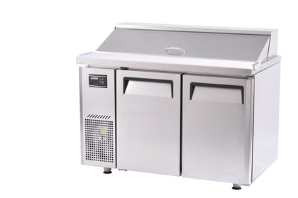 Turboair KHR 12-2 Two Door Salad Side Prep Hood Lid Bench Fridge -  1200mm