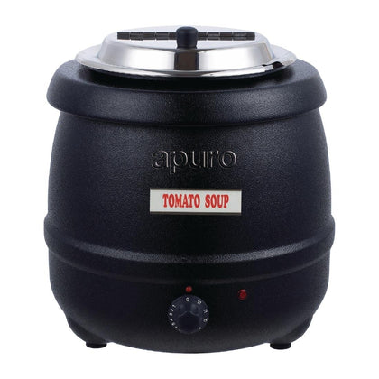 Apuro L715-A Black Soup Kettle - Catering Sale
