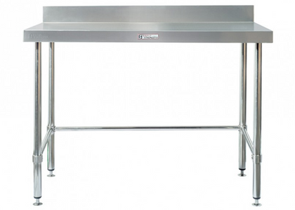 Simply Stainless Work Bench with Splash Back & Leg Brace - Catering Sale