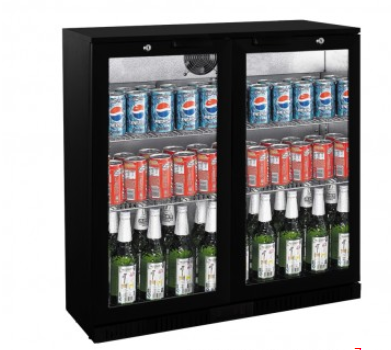 FED LG-208HC Under Bench Two Door Bar Cooler - Catering Sale