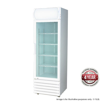 FED LG-370GE Single Glass Door Colourbond Upright Drink Fridge - Catering Sale