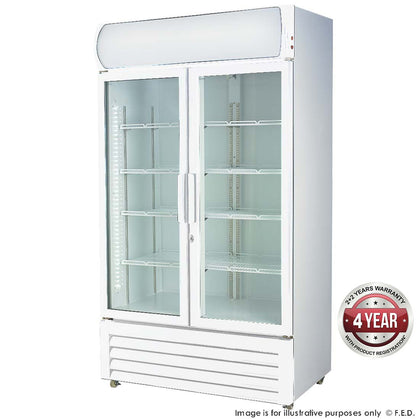 FED LG-580GE Double glass door colourbond upright drink fridge