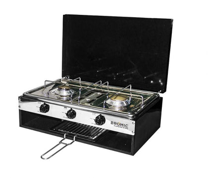 Camper-Lido Junior Deluxe 2-Burner with Grill - Catering Sale