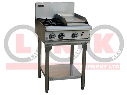 LKK LKKOB4C 2 Open Burner with 300mm Grill Plate - Catering Sale