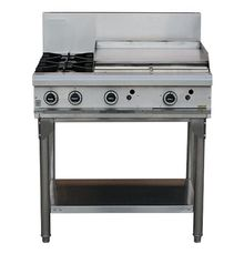 LKK 2 GAS OPEN BURNER + 600mm GAS GRIDDLE WITH LEGS - LKKOB6B