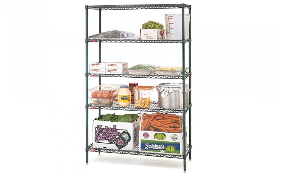 Metroseal III Super Erecta 4 Tier Wire Shelving Kits - Catering Sale