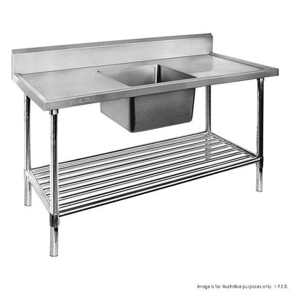 Premium Stainless Steel Single Sink Bench - Catering Sale