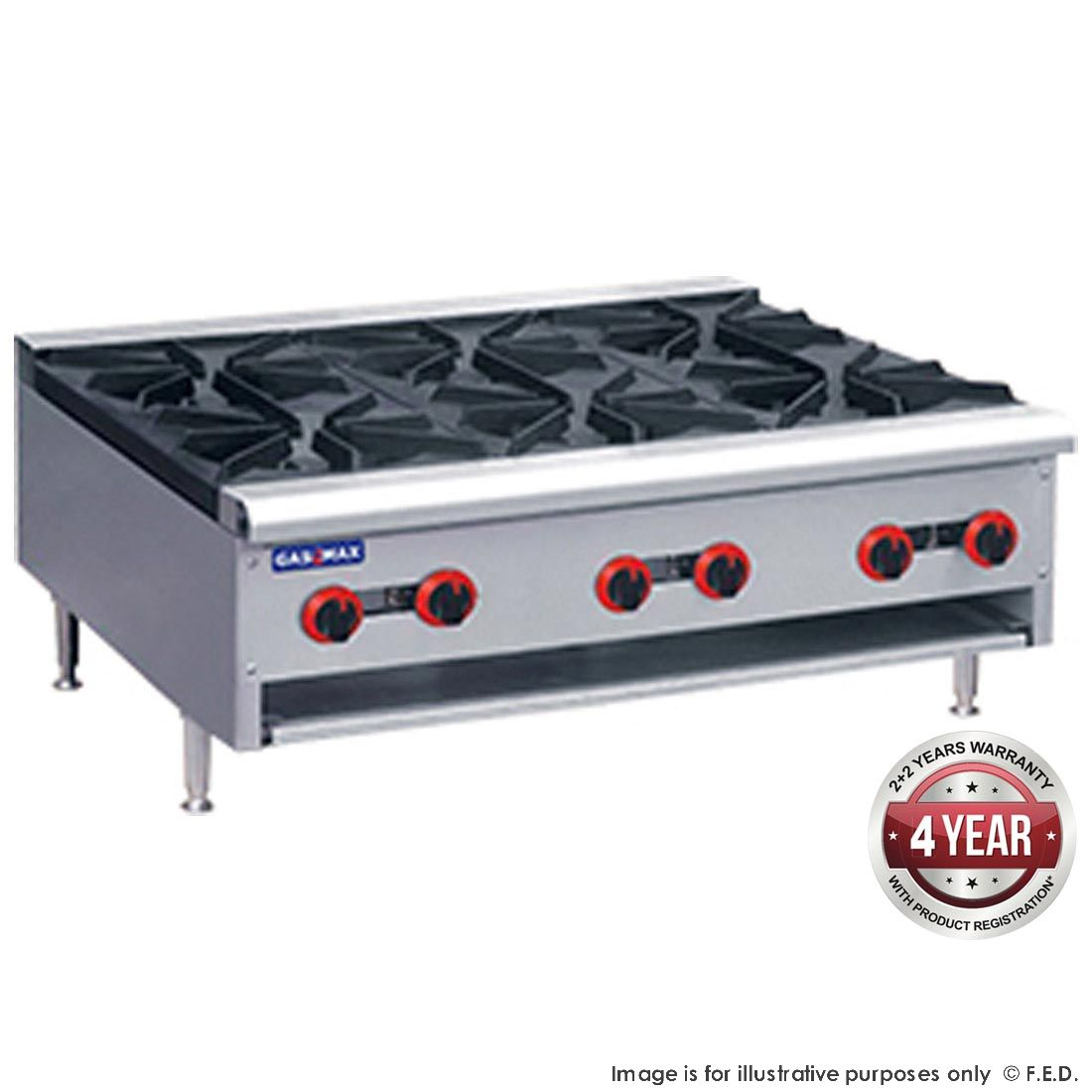 FED Gasmax Gas burner hob With Flame Failure
