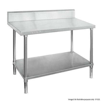Premium Stainless Steel Workbench with splashback - Catering Sale