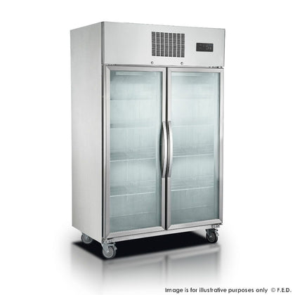 FED - SUCG1000 Double Door Display Fridge 1000 Litre
