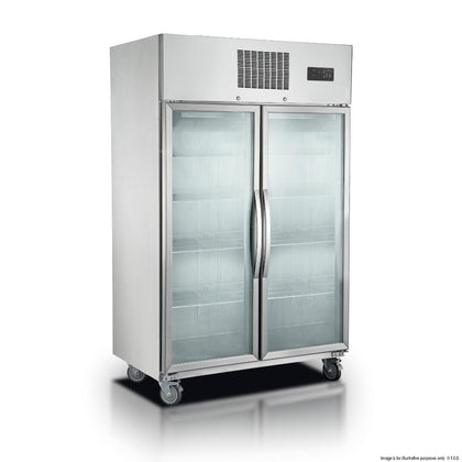 FED - SUFG1000 Double Door Display Freezer 1000 Litre - Catering Sale