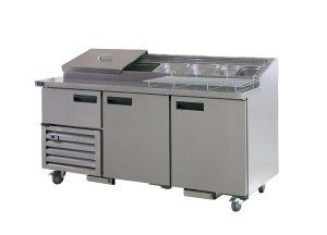 Anvil Aire UBP1800 Pizza Bar (2 1/2 Doors) 1800mm - Catering Sale