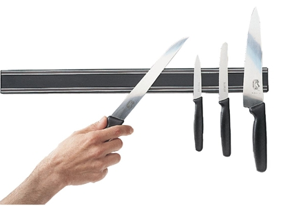 Vogue Magnetic Large Knife Rack 61cm - Catering Sale