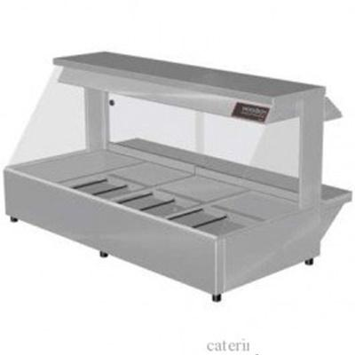 Woodson W.HFS24 Hot Food Bar - Straight Glass 1355mm