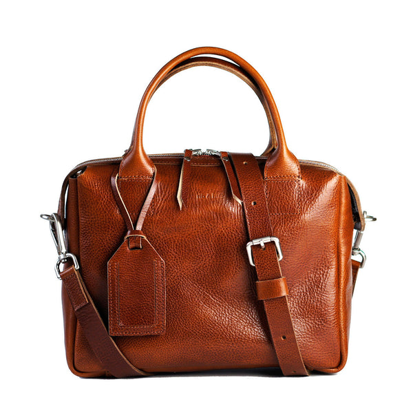 cognac heirloom satchel crossbody bag