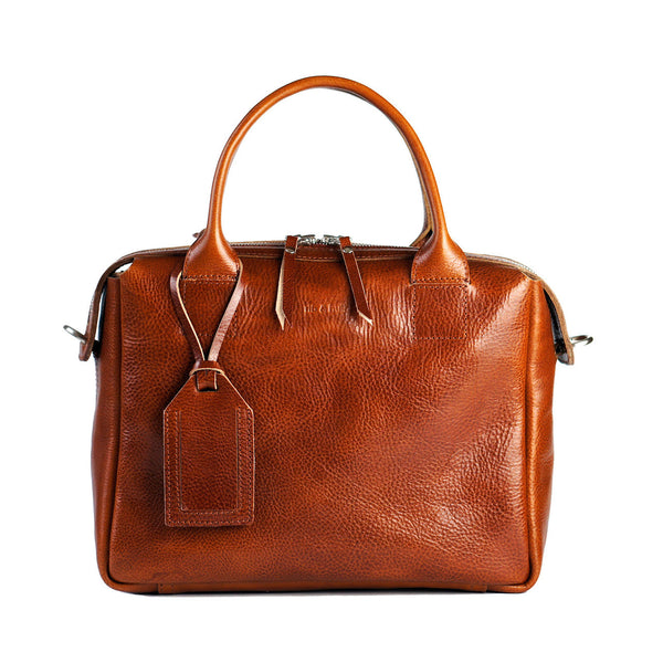 heirloom satchel in cognac