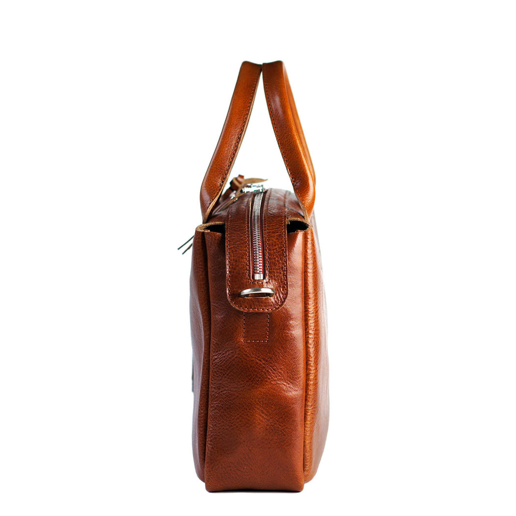 heirloom satchel cognac