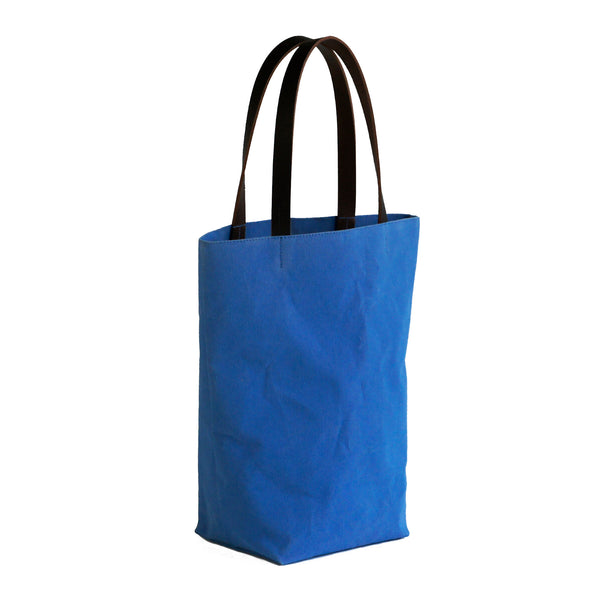 Cotton Canvas Day Tote In Cobalt Blue