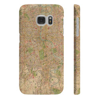 Bacon's London Map Slim Phone Cases