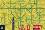 London City Travel Map Poster