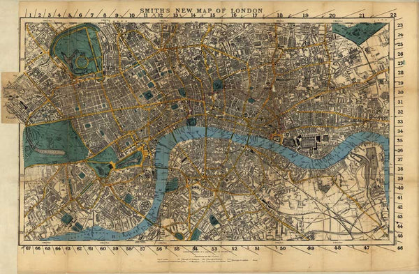 Vintage London City Map