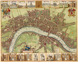 Map of 17th Century London, Canvas Print