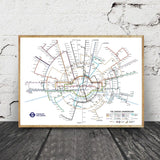 London Transport Map Poster