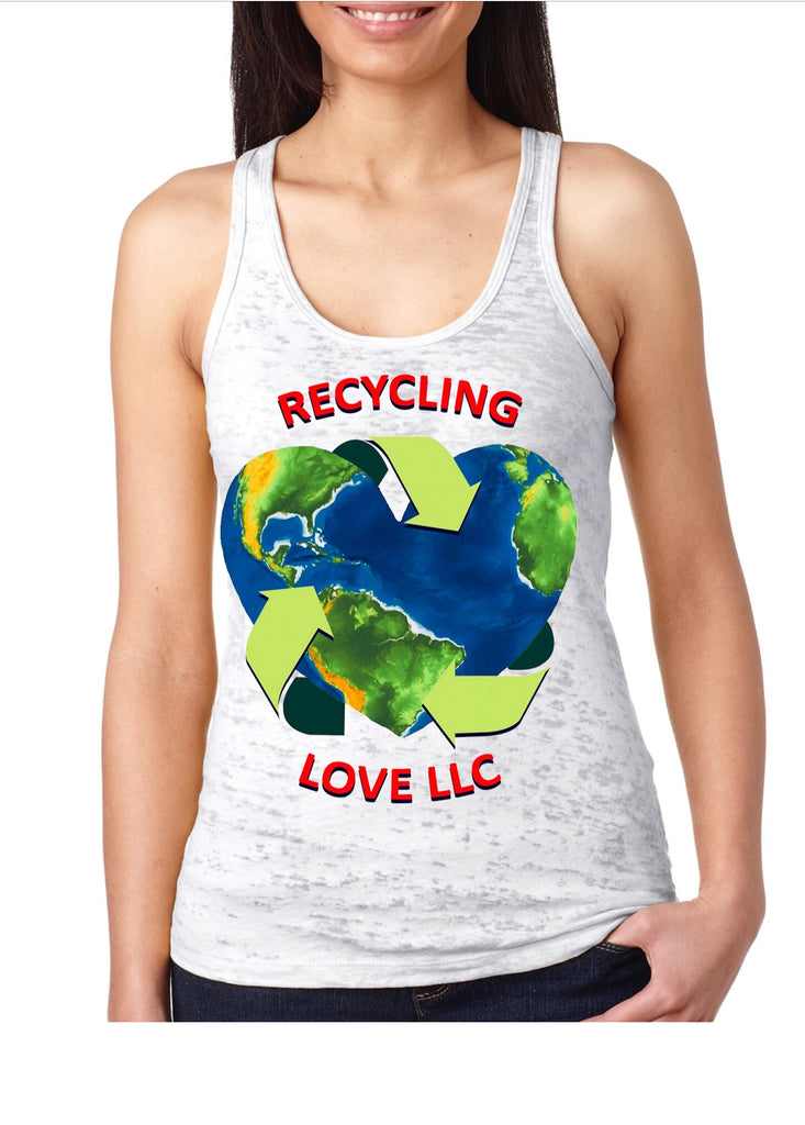 Recycling Love Racerback Burnout Tee