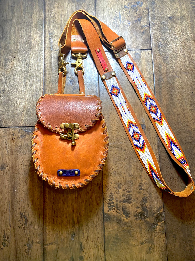 "Beaded ""Mini Queenie"" - Belt Pouch/Crossbody"