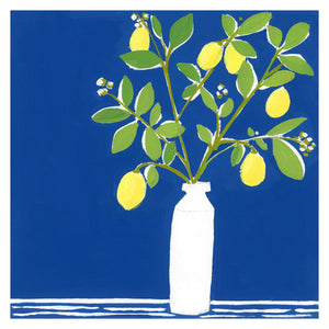 lemon tree blue art print