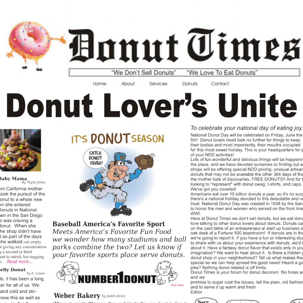 First And Only Online Donut Newspaper