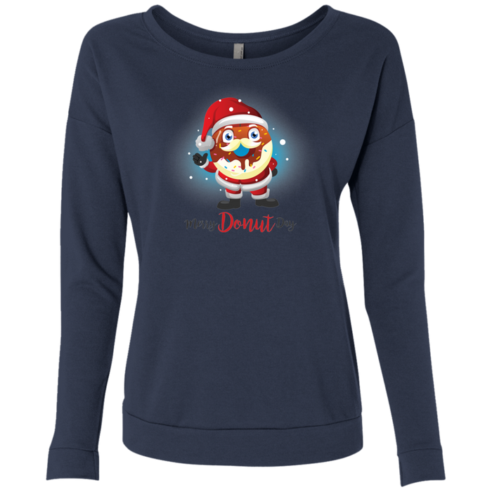 Donut Santa Next Level Ladies' French Terry Scoop