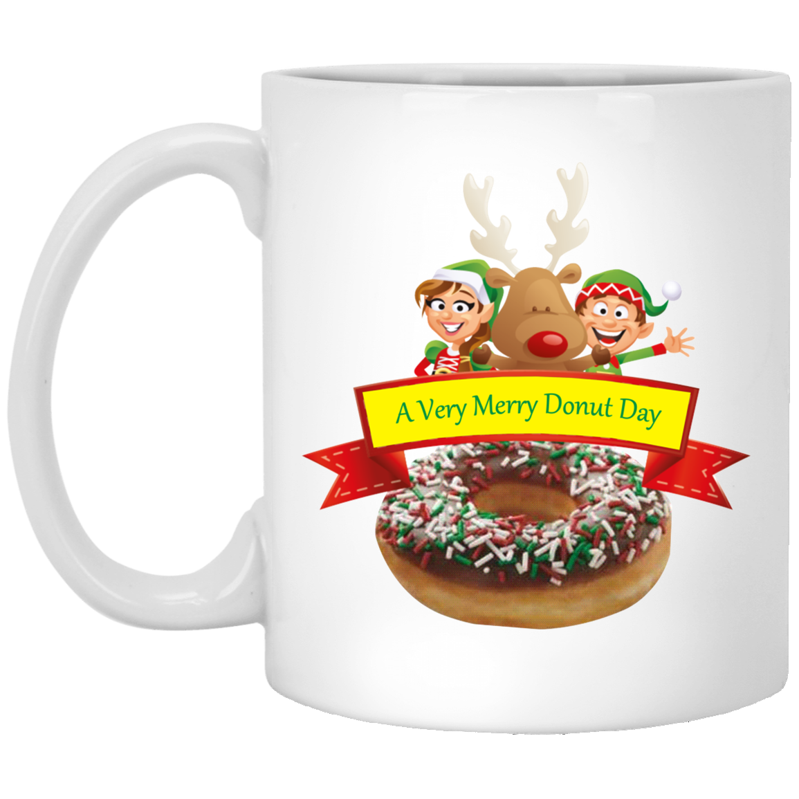 Elves Sprinkles Chocolate XP8434 11 oz. White Mug