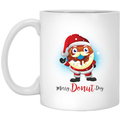 Merry Donut Day 11 oz. White Mug
