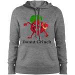Donut Grinch Ladies' Pullover Hooded Sweatshirt