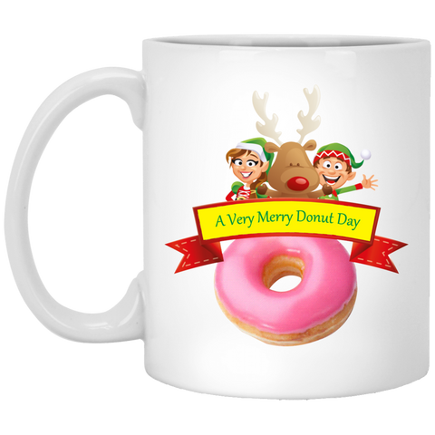 Elves Pink XP8434 11 oz. White Mug